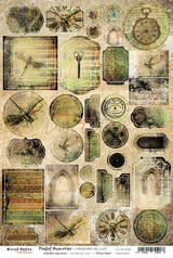 Craft O'Clock - Chipboard Die-Cuts 8x12 - Faded Memories (CC-CB-MM05)
