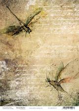 Craft O'Clock - Rice Paper A4 - Faded Memories 1 (CC-MM-RYZ-07)