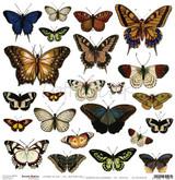 Craft O Clock - 12x12 Mixed Media Ephemera cut out sheet 2 - Butterflies (CC-MM-DOD-7)