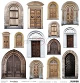 Craft O Clock - 12x12 Mixed Media Ephemera cut out sheet X - Doors (CC-MM-DOD-10)