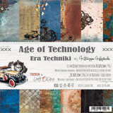Craft O'Clock - Paper Collection Set 8x8 - Age of Technology (CC-ZS-AT-F7)