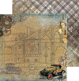 Craft O'Clock - Double Sided Paper 12x12 - Age of Technology - 02 Car (CC-AT-F7-02)