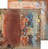 Craft O'Clock -Double Sided Paper 12x12 - Age of Technology - 04 Rusted Clock (CC-AT-F7-04)
