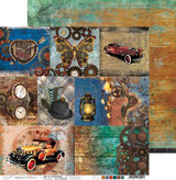 Craft O'Clock - Double Sided Paper 12x12 - Age of Technology - Decorative Cards (CC-PL-AT-F7)