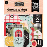 Echo Park - Cardstock Frames & Tags 33/Pkg - Farmhouse Kitchen (FK216025)