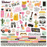 Simple Stories - Cardstock Element Stickers 12 X 12 - Kate & Ash (KA13101)