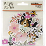 Simple Stories - Bits and Pieces Die Cuts 57/Pkg - Kate & Ash (KA13116)