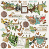 Cardstock Element Stickers 12 X 12 - Simple Vintage Great Escape (VGE13202)