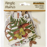 Simple Stories - Great Escape Bits & Pieces Die-Cuts 46/Pkg - Simple Vintage Great Escape (VGE13217)