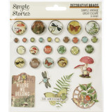 Simple Stories - Decorative Brads 30/Pkg - Simple Vintage Great Escape (VGE13225)
