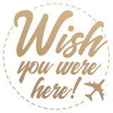 Couture Creations - New Adventures - Mini Stamp - Wish You Were Here (CO727788)