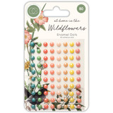 Craft Consortium - Adhesive Enamel Dots 80/Pkg - At Home in the Wildflowers (CADOT007)