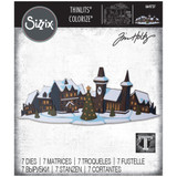 Sizzix Thinlits Die Set 7PK - Holiday Village, Colorize by Tim Holtz (664737)