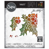 Sizzix Thinlits Die Set 4PK - Holly Pieces by Tim Holtz (664738)