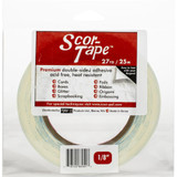 "SCOR-TAPE Double-Sided Tape - 1 roll 1/8""x 27yrds (SP201)"