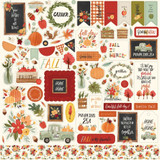 "Carta Bella - Cardstock Element Sticker 12""x12"" - Hello Autumn (EA122014)"