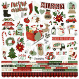Simple Stories - Element Sticker Sheet 12x12- Jingle All The Way (JGL13701)
