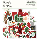Simple Stories - Bits and Pieces - Ephemera 57/Pkg - Jingle All The Way (JGL13716)