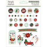 Simple Stories - Decorative Brads - Jingle All The Way (JGL13723)
