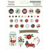 Simple Stories - Decorative Brads - Jingle All The Way (JGL13723)