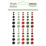 Simple Stories - Enamel Dots- Jingle All The Way (JGL13724)