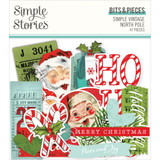 Simple Stories - Bits and Pieces Ephemera 47/Pkg - North Pole (VNP13621)