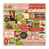 "Authentique - Cardstock Stickers 12""X12"" - A Magical Christmas (AMC009)"