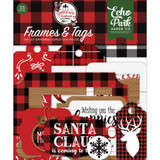 Echo Park - Cardstock Frames & Tags 33/Pkg - A Lumberjack Christmas (LC220025)