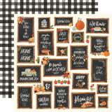 "Carta Bella - Collection Kit 12""x12"" - Hello Autumn - Give Thanks Boards (CBHEA122 8)"