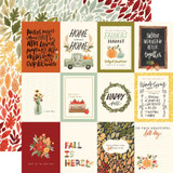 "Carta Bella - Double Sided Cardstock 12""x12"" - Hello Autumn - 3x4 Journaling Cards (CBHEA122 3)"