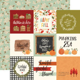 "Carta Bella - Double Sided Cardstock 2""x12"" - Hello Autumn - 4x4 Journaling Cards (CBHEA122 11)"