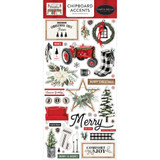Carta Bella - Chipboard 6x12 - Farmhouse Christmas - Accents (AC123021)