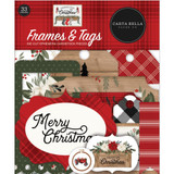 Carta Bella - Cardstock Frames & Tags 33/Pkg - Farmhouse Christmas (AC123024)