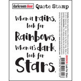 "Darkroom Door - Quote Cling Stamp 3.3""X2.3"" - Look For Stars (DDQS035)"
