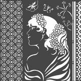 Stamperia - Stencil  7x7 - Lady Side (KSTDQ40)