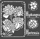 Stamperia - Stencil  7x7 - Hortensia Frames (KSTDQ44)