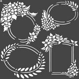 Stamperia - Stencil  7x7 - Labels (KSTDQ45)