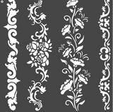Stamperia - Stencil  7x7 - Borders (KSTDQ54)