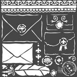 Stamperia - Stencil  7x7 - Letters (KSTDQ57)