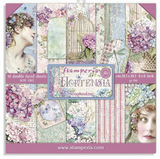Stamperia - Double-Sided Cardstock Collection 8x8 10?Pkg - Hortensia (SBBS15)