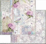 Stamperia - Double-Sided Cardstock - Hortensia - Cage and Birds (SBB695)