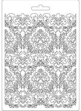 "Stamperia Soft Maxi Mould ""8.27x5.90"" - Damask (K3PTA554)"