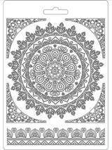 "Stamperia Soft Maxi Mould ""8.27x5.90"" - Round Lace (K3PTA560)"