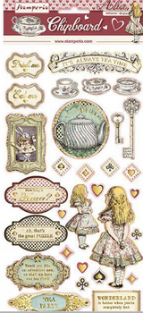 "Stamperia - Chipboard Stickers - ""5.9x11.81"" - Alice (DFLCB12)"
