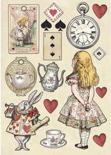 Stamperia - Wooden Shapes- A5 - Alice Gold (KLSP075)