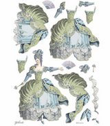 Stamperia - Decoupage Rice Paper A3 11.69 x 16.53 - Princess - Green Lady (DFSA3073)