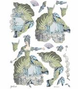 Stamperia - Decoupage Rice Paper A3 11.69 x 16.53 - Princess - Green Lady (DFSA3073)