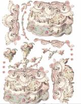 Stamperia - Decoupage Rice Paper A3 11.69x16.53- Princess - Pink Lady (DFSA3074)
