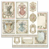 Stamperia - Double-Sided Cardstock 12x12 - Princess - Corsets (SBB716)