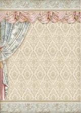 Stamperia - Decoupage Rice Paper A3 11.69x16.53 - Princess - Drapery (DFSA3066)